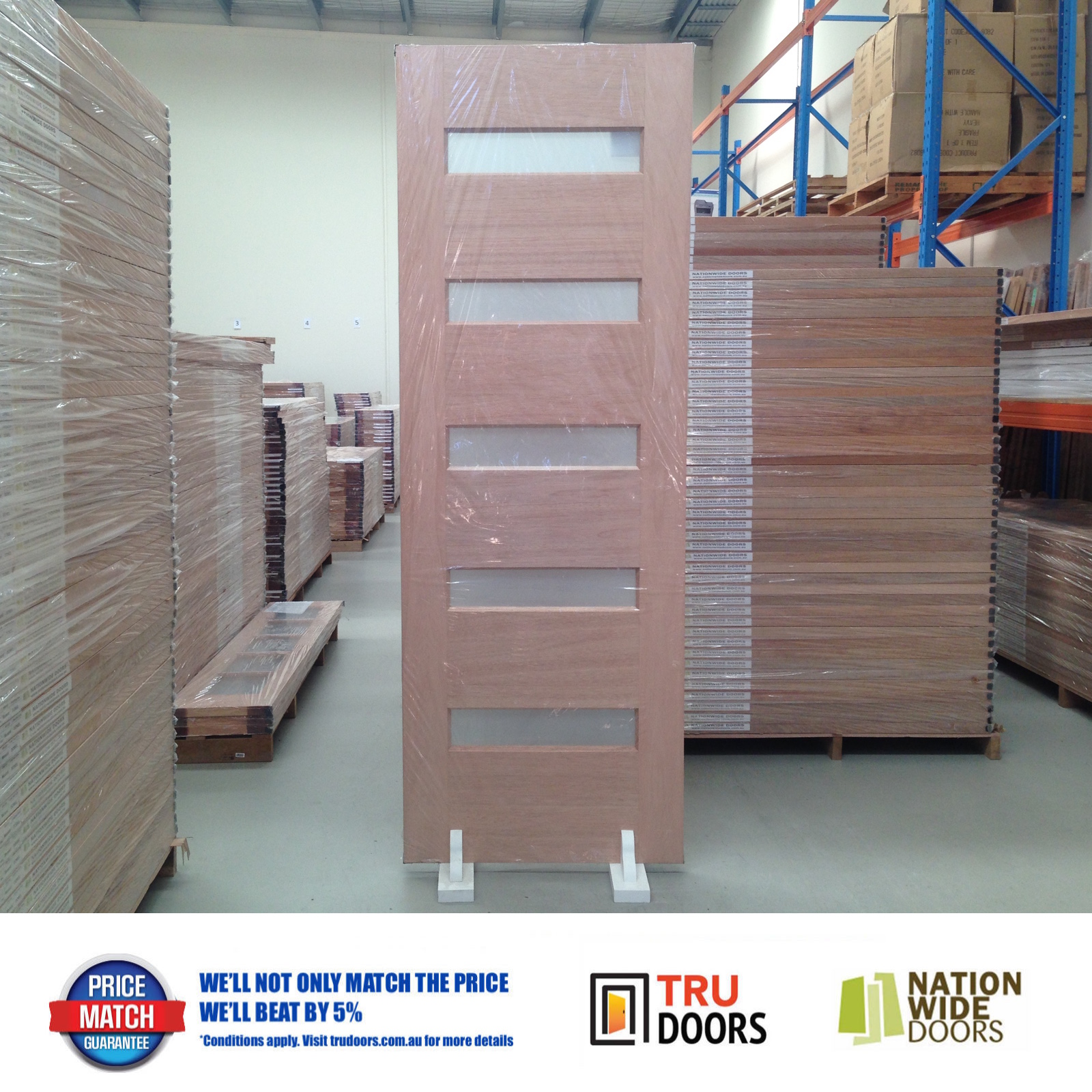 5s Translucent Glass French Solid Timber Doors 2340mm