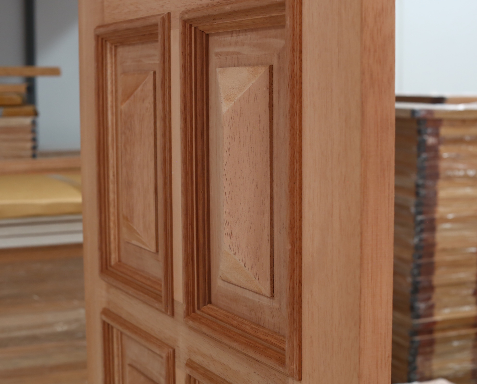 8 Panel Traditional French Solid Timber Doors Heavy